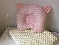 Подушка «Мишка» звезды на розовом