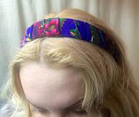 Обруч на голову с платочной отделкой