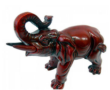 Слон каменная крошка коричневый (16х13х7 см)