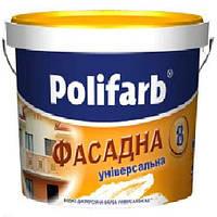 Краска акриловая POLIFARB УНIВЕРСАЛФАСАД  фасадная, белая, 20 кг