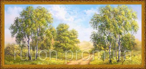 Картина YS-Art CA001-63 33x70 (Пейзаж, золотистая рамка)