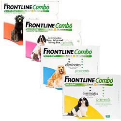 Краплі Merial Frontline Combo Spot-on Меріал Фронтлайн Комбо Спот-он від бліх для собак (Франція)