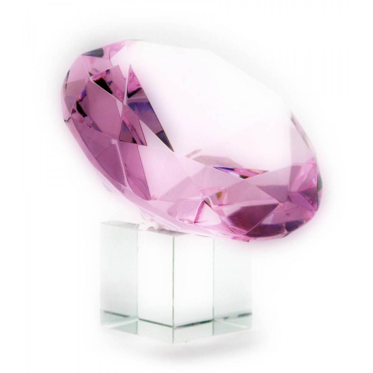 Кристалл хрустальный розовый (10см) ( 21350)