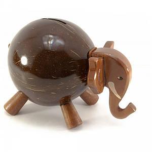 "Копилка ""Слон"" кокосовая (19х13х10 см) ( 29886)"