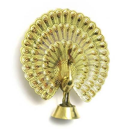 Павлин бронзовый (14,5х13х3 см) ( 1220), фото 2