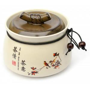 Баночка для чая керамическая (500 мл.)(10х12,5х12,5 см) ( 30865)