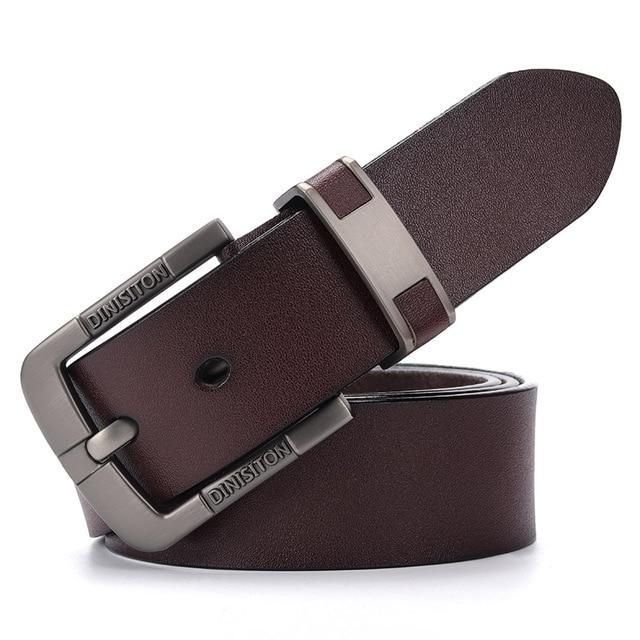 Мужской кожаный ремень Dinisiton DS802 Brown 120 см.