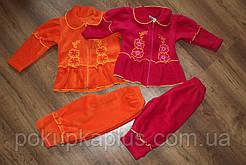 Костюмчик для девочки флис 86-92 оранжевый