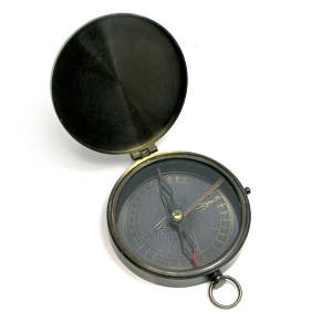Компас с крышкой бронза (d-8,h-1,5 см) ( 29259)