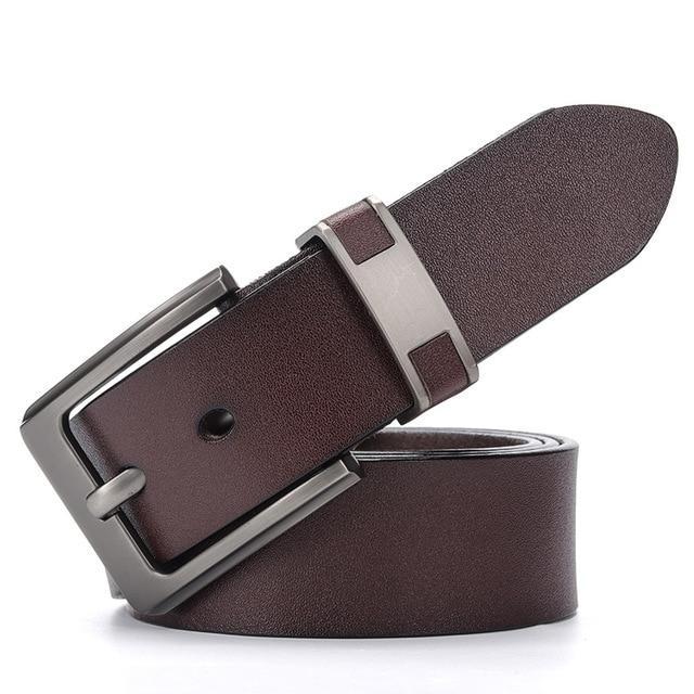 Мужской кожаный ремень Dinisiton DS803 Brown 130 см.