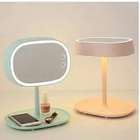 Макияжное зеркало + настольная лампа 2 в 1, фото 1