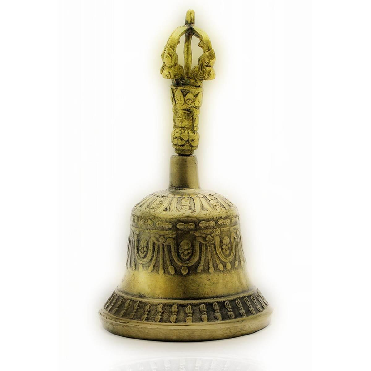 Колокол чакровый бронзовый (№3)(d-9,h-15,5 см) (Непал) ( 21656)