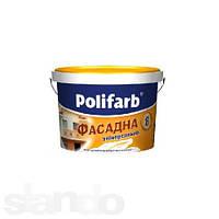 Краска акриловая POLIFARB УНIВЕРСАЛФАСАД  фасадная, белая, 4,2 кг