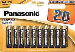 Батарейка Panasonic ALKALINE POWER AA BLI 20