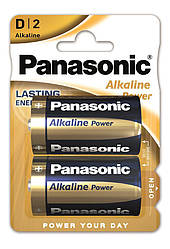 Батарейка Panasonic ALKALINE POWER D BLI 2