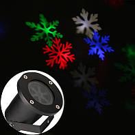Лазерный проектор для улицы новогодний