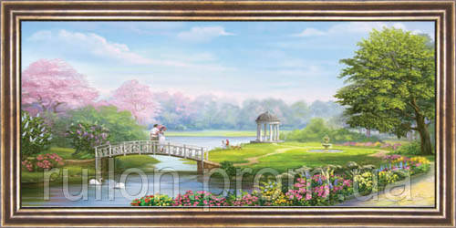 Картина YS-Art CA008-23 33x70 (Пейзаж, коричневая рамка)