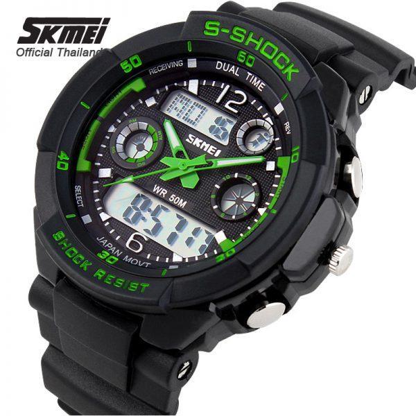 •Оригинал ! Skmei(Скмей) 0931 S-SHOCK  Green    Cпортивные мужские часы !