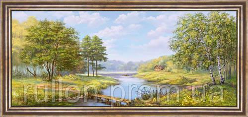 Картина YS-Art CA012-23 33x70 (Пейзаж, коричневая рамка)