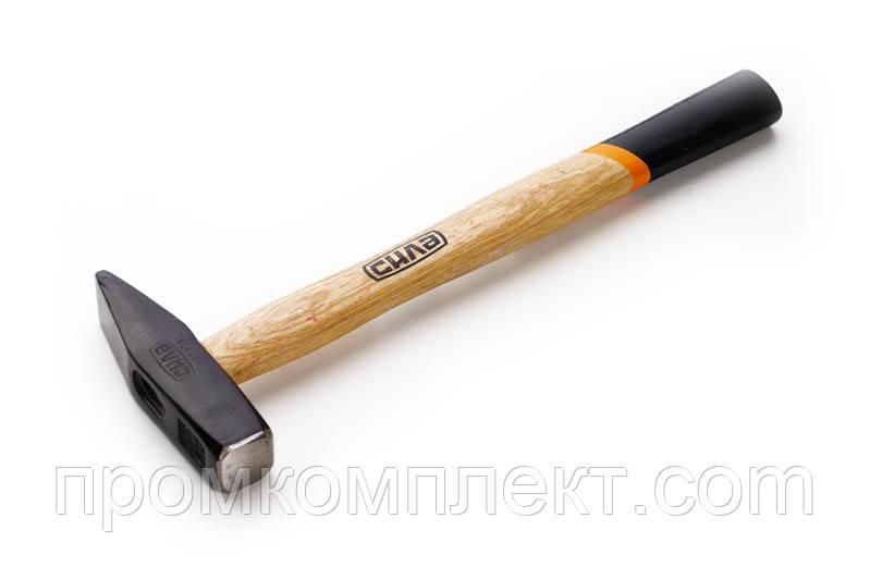 Молоток слесарный 800г с деревянной рукояткой СИЛА
