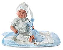 Кукла Llorens 74035 Младенец Лало с одеялом 42 см