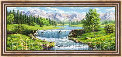 Картина YS-Art CA014-24 33x70 (Пейзаж, коричневая рамка)