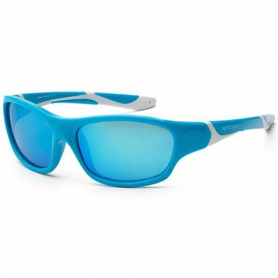 Детские солнцезащитные очки Koolsun бирюзово-белые серии Sport (Размер: 3+)