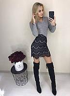 Платье облегающее с отделкой кружева  в расцветках  3461, фото 1
