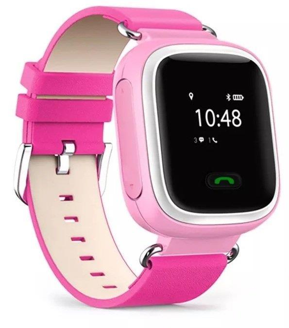 Детские телефон-часы с GPS трекером GOGPS ME K10 Розовые