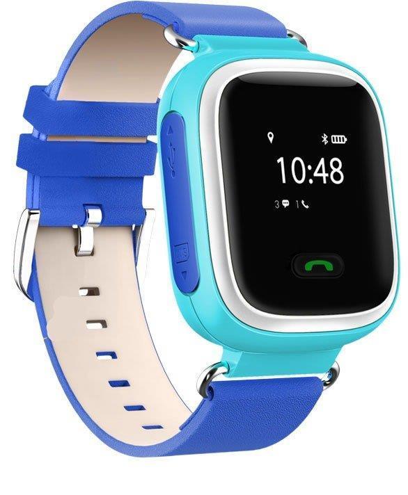 Детские телефон-часы с GPS трекером GOGPS ME K10 Синие