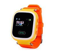Детские телефон-часы с GPS трекером GOGPS ME K11 Желтые