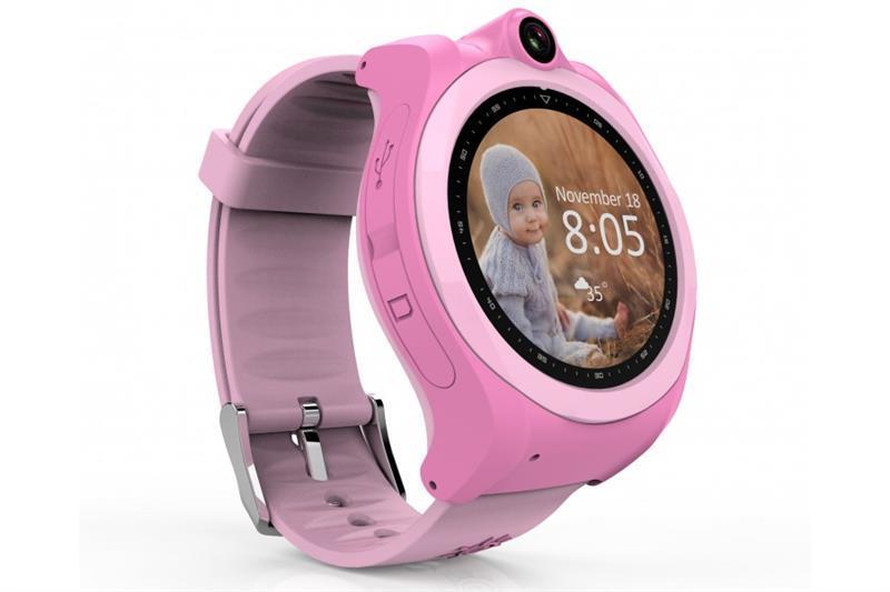 Детские телефон-часы с GPS трекером GOGPS ME K19 Розовые