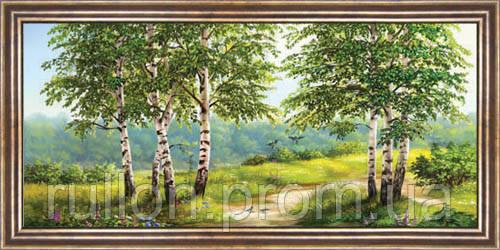 Картина YS-Art CA015-23 33x70 (Пейзаж, коричневая рамка)