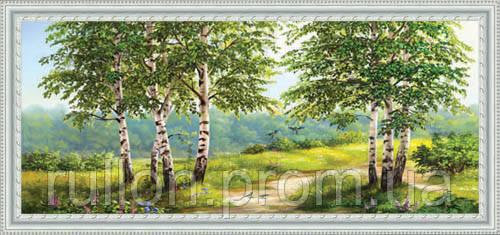 Картина YS-Art CA015-53 33x70 (Пейзаж, белая рамка)