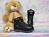 Детские ботинки тимбер из экокожи черные, фото 3