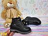 Детские ботинки тимбер из экокожи черные, фото 4