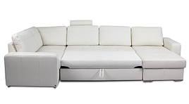 Кожаный угловой диван Филадельфия, мягкий диван, мебель из кожи