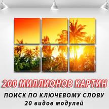 Заказать картину модульную на Холсте син., 52x80 см, (25x25-6), фото 2