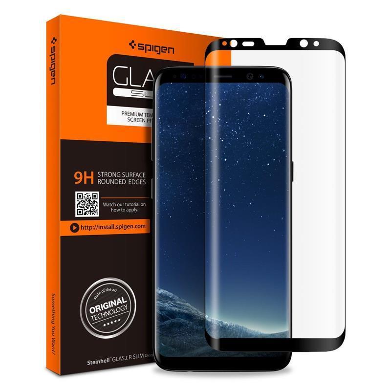 "Защитное стекло Spigen Galaxy S9 Glass ""Glas.tR Curved HD"" Black (1Pack)"