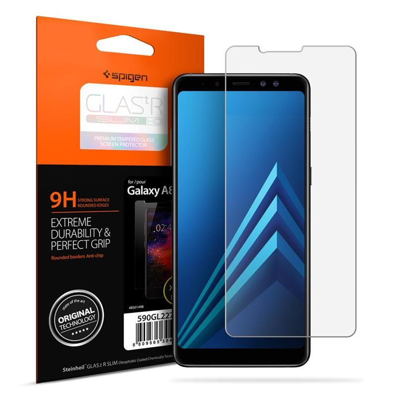 "Защитное стекло Spigen для Galaxy A8 (2018) Glass ""Glas.tR SLIM HD"" (1Pack)"