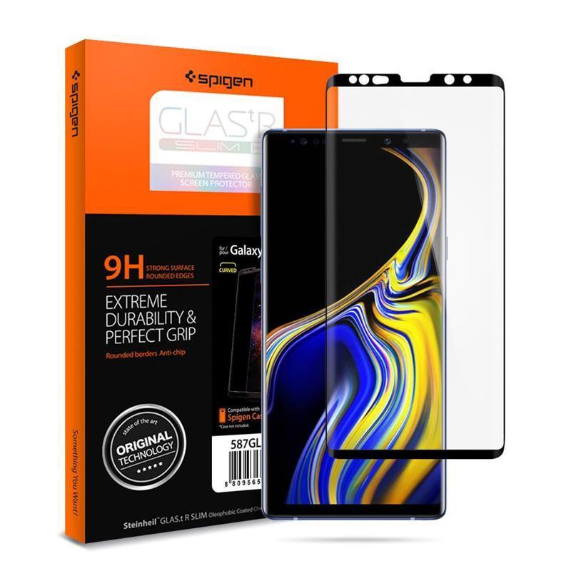 "Защитное стекло Spigen для Galaxy Note 9 Curved HD"" Black"