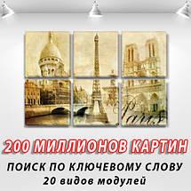 Картина из фотографии модульные на холсте дешево в интернет магазине, 52x80 см, (25x25-6), фото 2