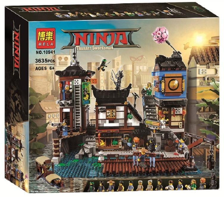 Конструктор Bela 10941 Порт Ниндзяго Сити (серия NinjaGo Movie) 3635 деталей