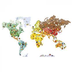 Игра-стикер Janod Карта мира с животными J02850