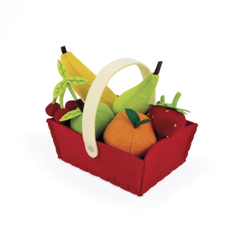 Игровой набор Janod Корзина с фруктами 8 эл. J06577