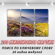 Купити картину модульную на Холсте син., 52x80 см, (25x25-6), фото 2