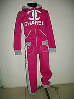 Спортивный костюм для девочки на флисе Chanel розовый р-ры 26, 28