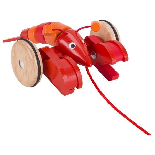 Игрушка-каталка goki Лобстер 54904G