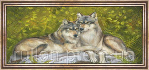 Картина YS-Art CA022-23 33x70 (Пейзаж, коричневая рамка)