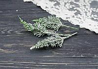 Ветки туи в снегу и блестках 3 шт, фото 1